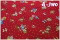 LECIEN 30's 7 Happy Happy Girls ドット レッド 31371-30 (約110cm幅×50cm)