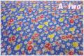 LECIEN 30's 8 アンティークフラワー ブルー 31524-71 (約110cm幅×50cm)