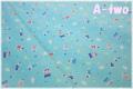 LECIEN Minny Muu Collection Baby Bear ブルー 40715-70 (約110cm幅×50cm)