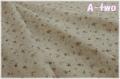 【期間限定40%OFF】 YUWA リネン フラワー ブラウン (約110cm幅×50cm) 【ポイント還元対象外】