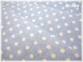 YUWA綿麻スラブ ミニドット ブルー×生成り (約135cm幅×50cm)