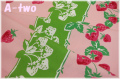 【デッドストック】 ストロベリー&チェリー オックス ピンク (約75cm幅×100cm)