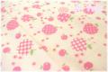 キャンディーアップル 生成り×ピンク AT826251-C (約110cm幅×50cm)