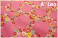 Vintage Lady フラワーチェック ピンク AT826264-A (約110cm幅×50cm)