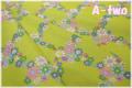 Vintage Lady フラワーチェック グリーン AT826264-B (約110cm幅×50cm)