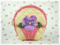 「FRUIT&FLOWER」 No.18 パンジーのファスナーポーチ