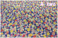 P&B Textiles Toy Chest Florals ネイビー 00411 (約110cm幅×50cm)