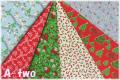 WINDHAM FABRICS STORYBOOK CHRISTMAS ミニカット6枚セット (1枚の大きさ約33cm×36cm)