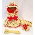 Platinum Puppy Couture(プラチナ パピー クチュール)Cherry Surprise Harness Dog Dress チェリー サプライズ ハーネス ドレス