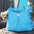 Doggie Design(ドギーデザイン)Sea Glass Mia Michele Dog Carry Bag シーグラス フェイク ペブル レザー キャリーバッグ