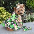 Doggie Design(ドギーデザイン)Twilight Black Hawaiian Hibiscus Dog Dress トワイライト ブラック ハワイアン ハイビスカス ドレス