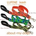 ルパインリード(2.5cm巾120cm)ゴーゴーゲコ・テイルフェザー・ブルックトラウト Lupine leash