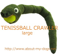 テニスボールを咥えたヘビのおもちゃ(Lサイズ) USA直輸入
