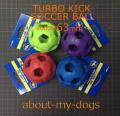 小型犬用の丈夫なサッカーボール6.35cm