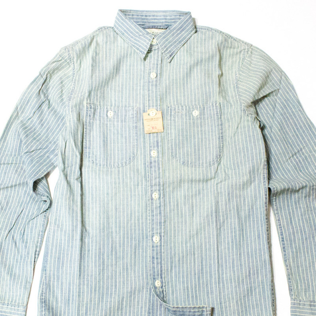 Denim&Supply:STRIPED CHAMBRAY WORKSHIRT/ストライプシャンブレーワークシャツ