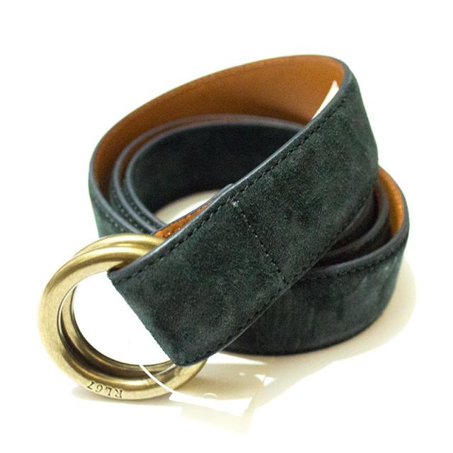 ポロ ラルフローレン Polo Ralph Lauren:Suede Ring Belt BOSCO/スエードリングベルト ダークグリーン