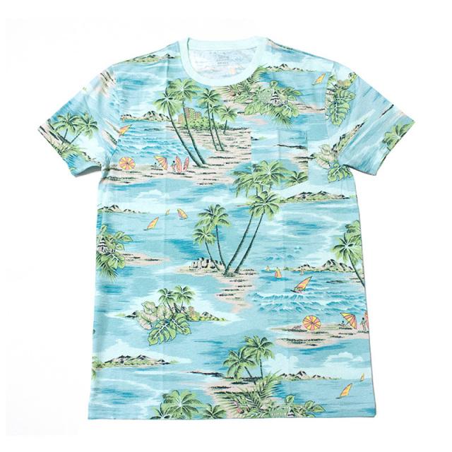 ジェイクルー J.crew:SLIM HAWAIIAN VISTA T-SHIRT/ハワイアンTシャツ