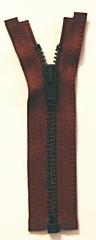 ■在庫販売終了予定■セール!オープンファスナー 10cm/金具色ブラック/テープ色ブラウン