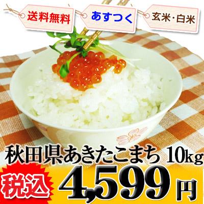 秋田県 選べる精米 1等米 あきたこまち 10kg (選べる包装) 平成25年度産 ※新、消費税率8%を含む価格です。