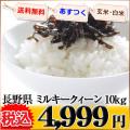長野県 白米 玄米 1等米 ミルキークイーン 10kg 平成25年度 ※新、消費税率8%を含む価格です。