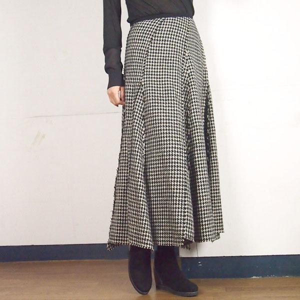synanogues 53(シナノーグ) マキシ丈 サーキュラー スカート|チドリ格子