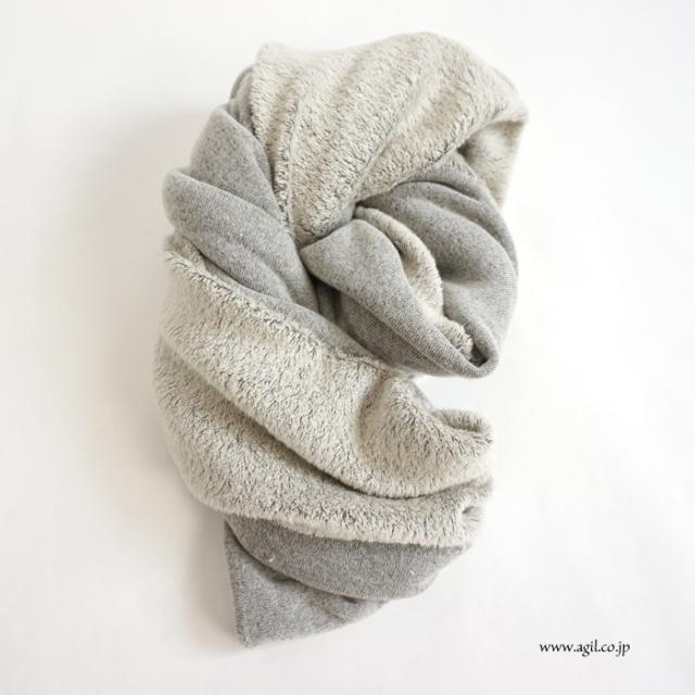 SYNANOGUES 53 (シナノーグ) 柔らかパイル スヌード グレー系 レディース メンズ