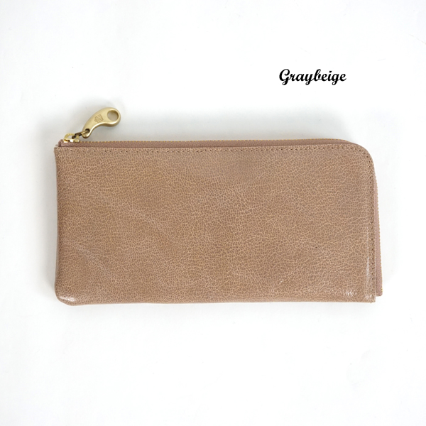mononogu(もののぐ) L字ファスナー ゴートスキンレザー長財布|ロングウォレット|やぎ革|レディース【送料無料】