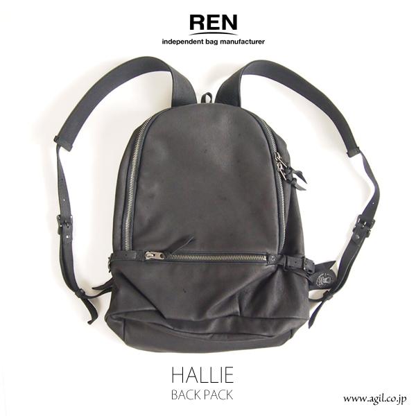 REN (レン) バックパッグ HALLIE(ハリー) ピッグレザー メンズ レディース