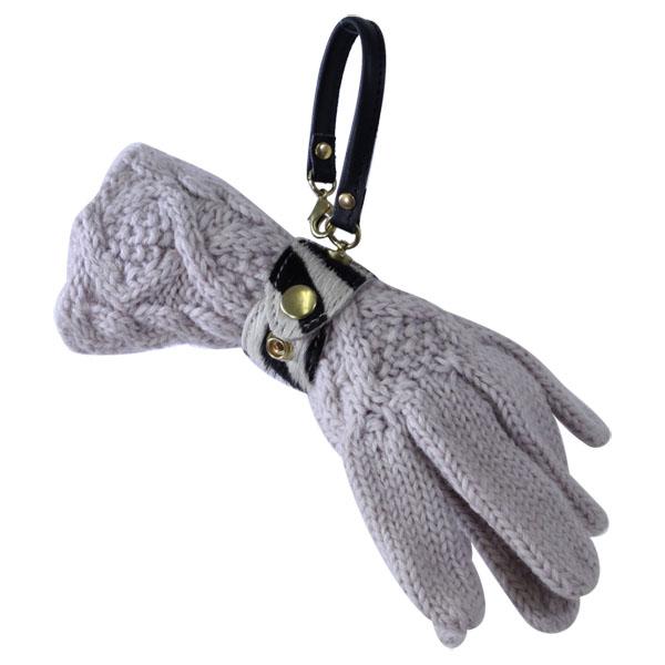 グローブホルダー 手袋 バッグチャーム 2段階調節 日本製 本革
