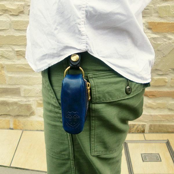 日本製 キーケース 革 ループベルト