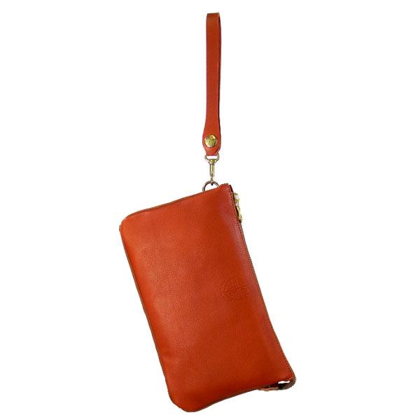 日本製 レザークラッチバッグ ハンドバッグ バッグインポーチ
