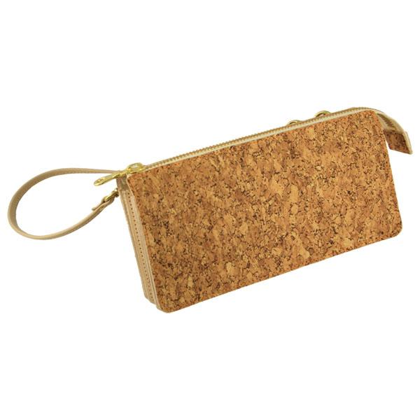 財布 コルク 合皮 長財布 スマホ スマートフォン iPhone ショルダーバッグ ポシェット 日本製
