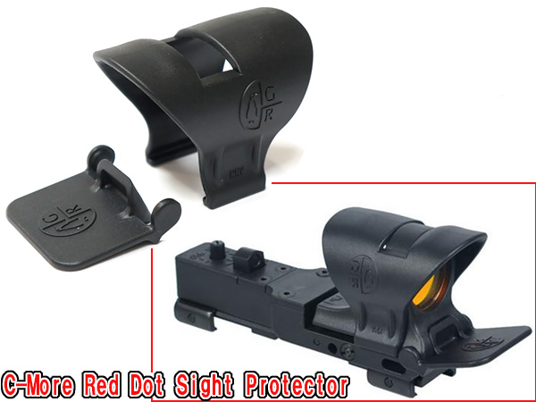 【C-MOREドットサイト対応プロテクターセット】 C-More Red Dot Sight Protector Scope Protector Kit Plastic Black