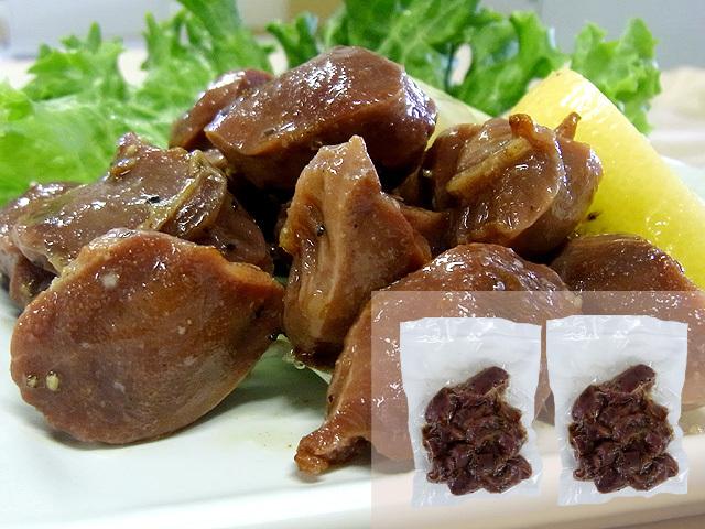 お湯で温めるだけの簡単お惣菜。比内地鶏砂肝塩こしょう焼き お得なご家庭用100g×2