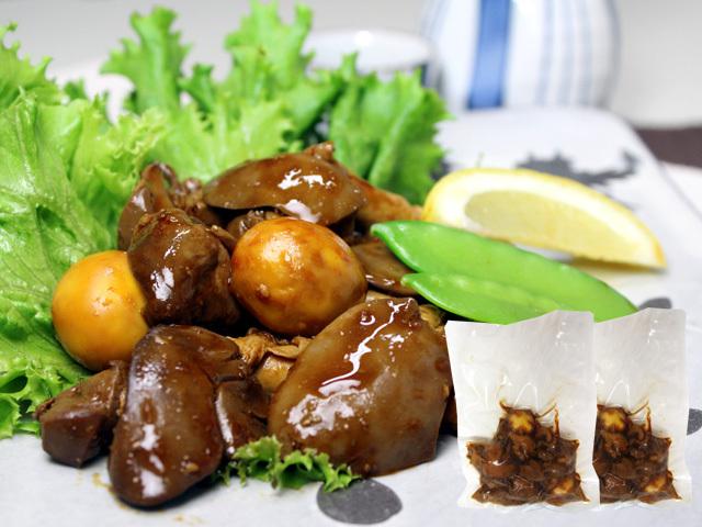 お湯で温めるだけの簡単お惣菜。比内地鶏鶏もつ旨煮 お得なご家庭用100g×2袋