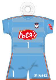 【全選手対応】ユニフォーム型カーサイン ゴールキーパー:1stモデル(空)