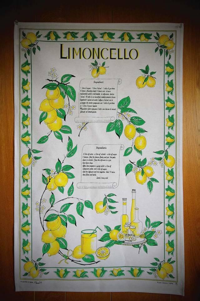 リモンチェッロの作り方・タペストリー コンティ社 イタリア産 (Italian Tapestry of Limoncello by conti) 商品