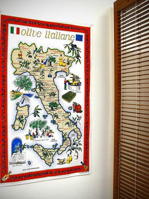 イタリア・Conti社タペストリーイタリアマップ: オリーブオイル