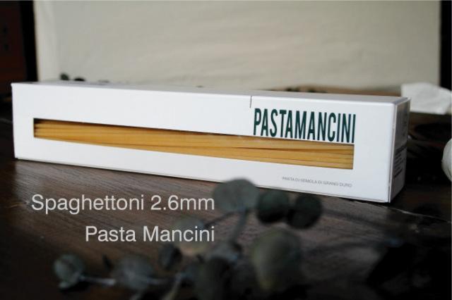 スパゲットーニ2.6mm (Spaghettoni) パスタ・マンチーニ(Pasta Mancini)