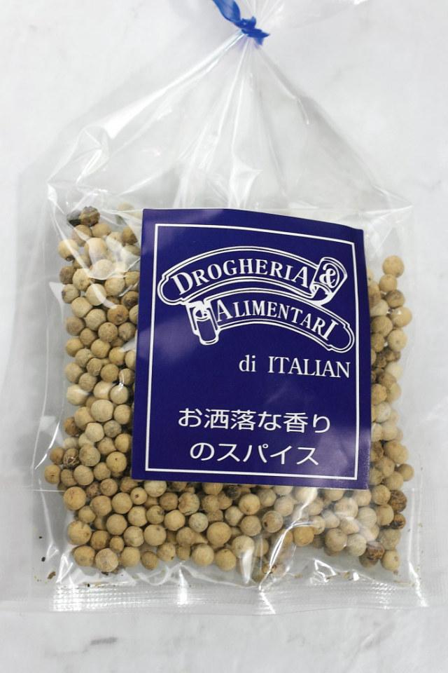 ホワイト ペッパー 50g ドロゲリア アリメンターレ社 イタリア産 (Italian white pepper by DROGHERIA & ALIMENTARI) 商品