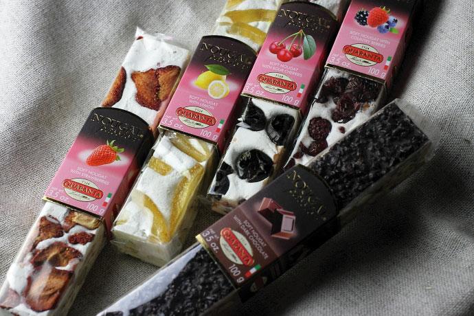 ソフト・ヌガー フルーツセット クアランタ社 イタリア産 (Italian Soft Nougat Fruit version by Quaranta) 商品