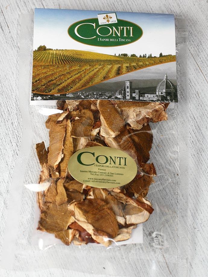 乾燥ポルチーニ茸 コンティ社 イタリア産 (Italian dry porcini by Conti) 商品
