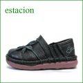 エスタシオン靴 estacion et199bl ブラック 【ワクワク元気。。可愛いお花が咲いている。。エスタシオン靴・・万華鏡・スリッポン】