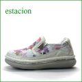 エスタシオン靴 estacion  et257iv  アイボリーコンビ 【新鮮キラキラお花・・・フワッと感じるお座布なクッション。。エスタシオン靴・・スリッポン】