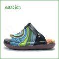 エスタシオン靴  estacion  et40bu ブル— 【ワクワクしちゃう。。エスタシオン すごく可愛い・ぐるぐる。。トング】