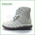 エスタシオン靴  estacion  et501ivo アイボリー 【新色アイボリー**エスタシオン 可愛い・・しましま リボンブーツ】