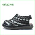 エスタシオン靴  estacion  et502bl ブラック 【いい色。かわいい!きんちゃくパンプキン・メッシュ 。。エスタシオン ぺたんこサンダル】