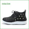 エスタシオン靴 estacion etn613bl ブラック 【柔らかい。。クニュッと曲がるソール・・・エスタシオン..可愛い穴穴アンクルショート】