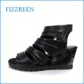 fizzreen フィズリーン fr2702bl ブラック 【上品スッキリのシンプルデザイン・・FIZZREEN・・・・ソフトなFITの・ウェッジサンダル】