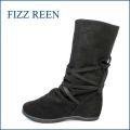 fizzreen フィズリーン fr3010bl ブラック 【すぽっと履けて・・楽らく FIT・・ 可愛い丸さの・・ fizzreen リボン・ショート】